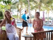 Relaxing in the restaurant|Aquana Beach Resort