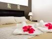 bungalow bedroom Aquana Beach Resort